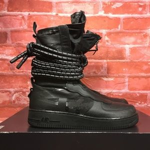 NIKE SF AIR FORCE 1 HI SNEAKER BOOTS BLACK/GREY